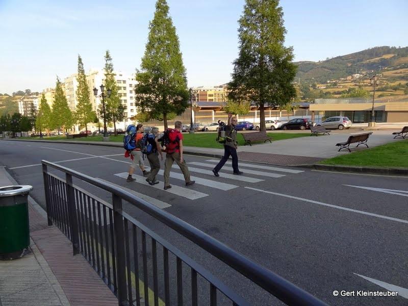 1. Etappe Aufbruch in Oviedo