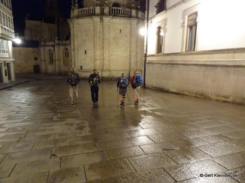 Aufbruch in Lugo zur nächsten Etappe