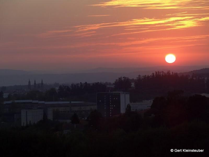 Sonnenuntergang hinter Santiago