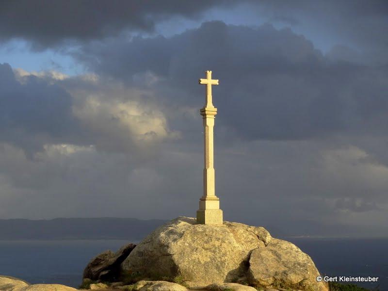 Pilgerkreuz am Cap Finisterre