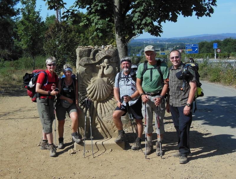 Gruppenbild vor Santiago