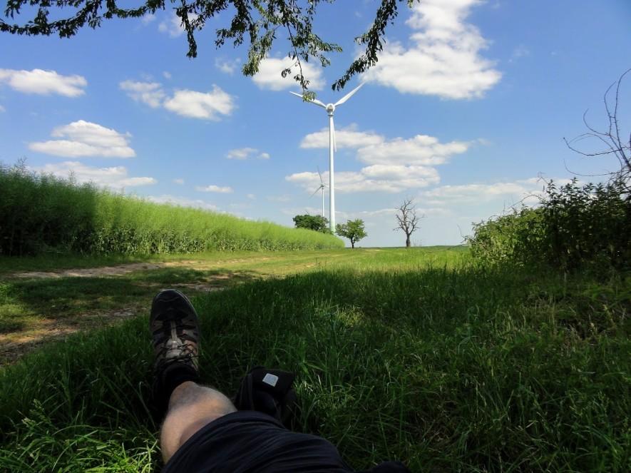 Pause unterm Apfelbaum