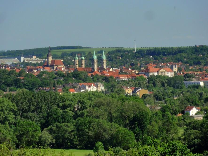 Blick nach Naumburg