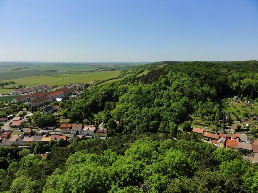 Aussicht vom Bergfried Richtung Westen