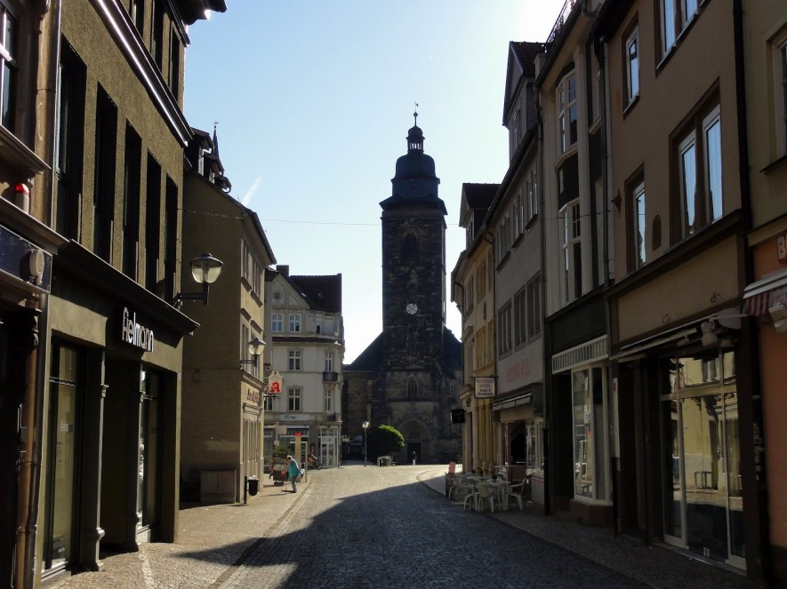 Marktstraße mit Blick zur Margarethenkirche