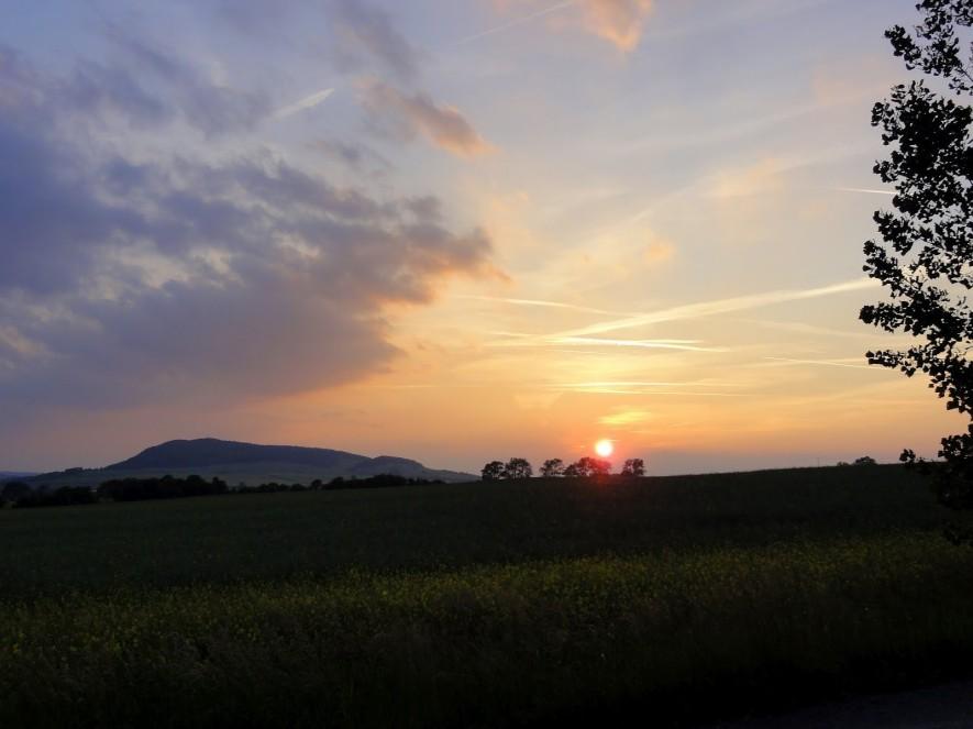 Sonnenuntergang an den Hörselbergen