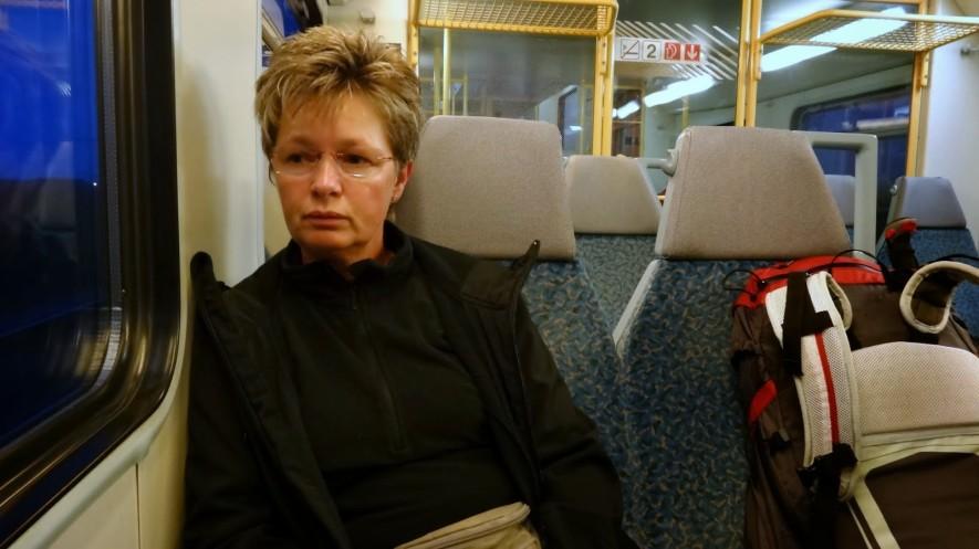 Im Zug nach Leipzig