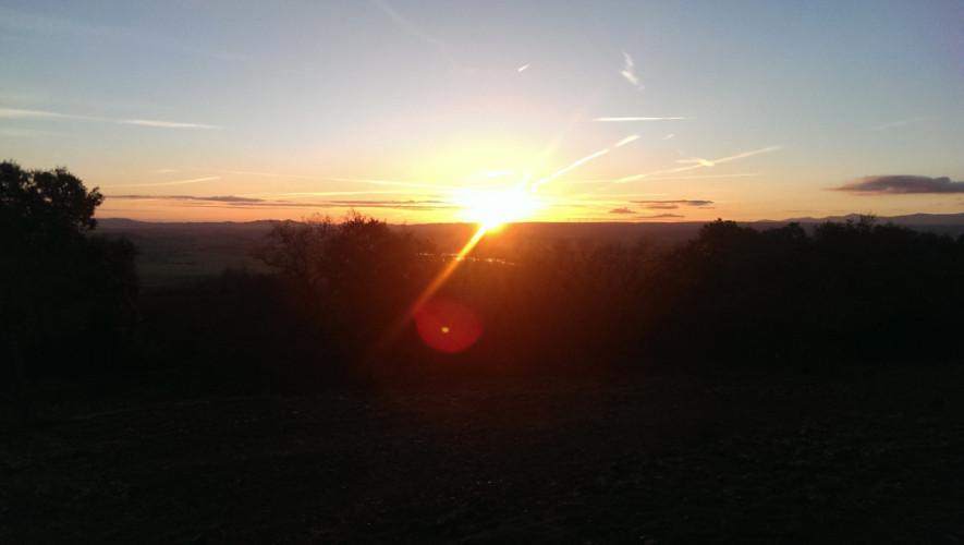 Sonnenaufgang hinter Atapuerca