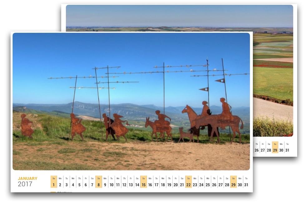 Kalender von Pilgern für Pilger