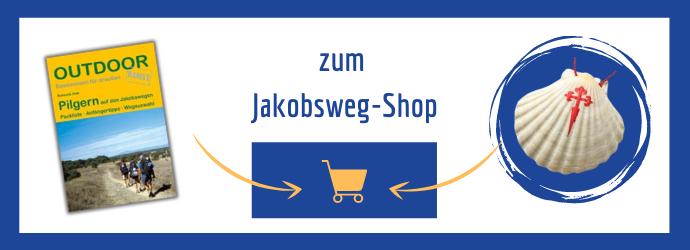 Eine Verlinkung zum Jakobsweg Shop